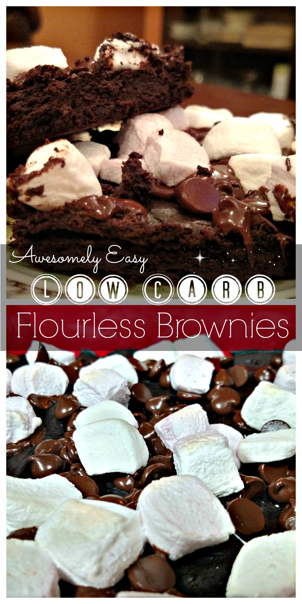 Awesomely Easy Low Carb Flourless Brownies