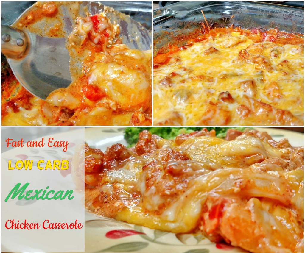 Fast and Easy Low Carb Mexican Chicken Casserole