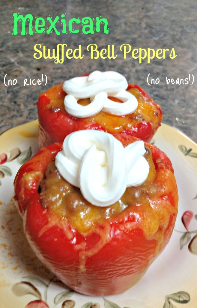 Mexican stuffed Bell Peppers with No Rice