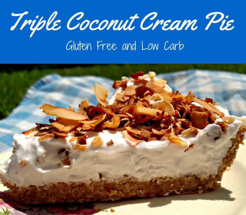 Easy Gluten Free Low Carb Coconut Pie